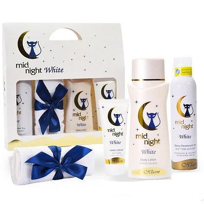 Hlavin Mid Night White Set מארז מתנה לאישה מידנייט וויט מבית חלאבין 7296179029550
