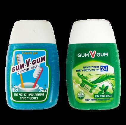 7290002925798 Gum V Gum גם וגם משחת שיניים ומי פה בתכשיר אחד
