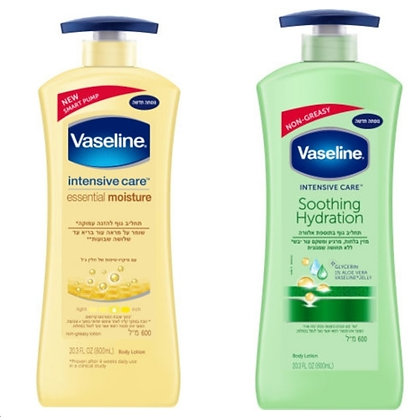 Vaseline Body Cream וזלין אינטנסיב קאר תחליב גוף