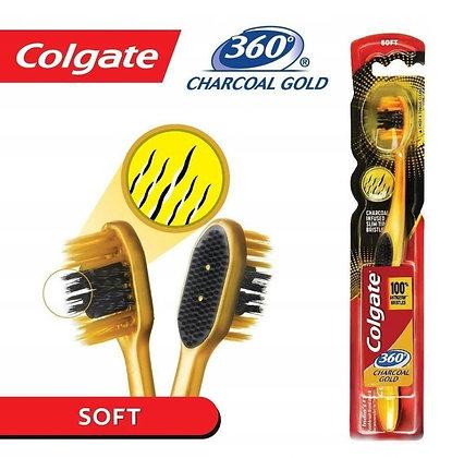 Colgate קולגייט צ'רקואל גולד מברשת שיניים עם סיבי זהב ופחם 86934950480019