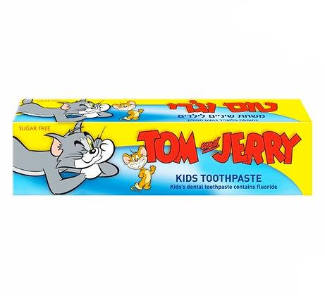 Tom & Jerry Toothpaste טום וג'רי משחת שיניים לילדים בגיל 2-6