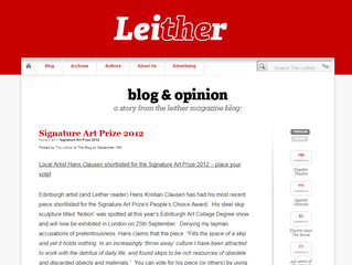 Featured on 'The Leither' - The Signature Art Prize