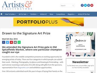 Featured on 'Artists & Illustrators' - The Signature Art Prize