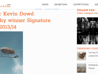 Featured on 'FAD Magazine' - Signature Art Prize