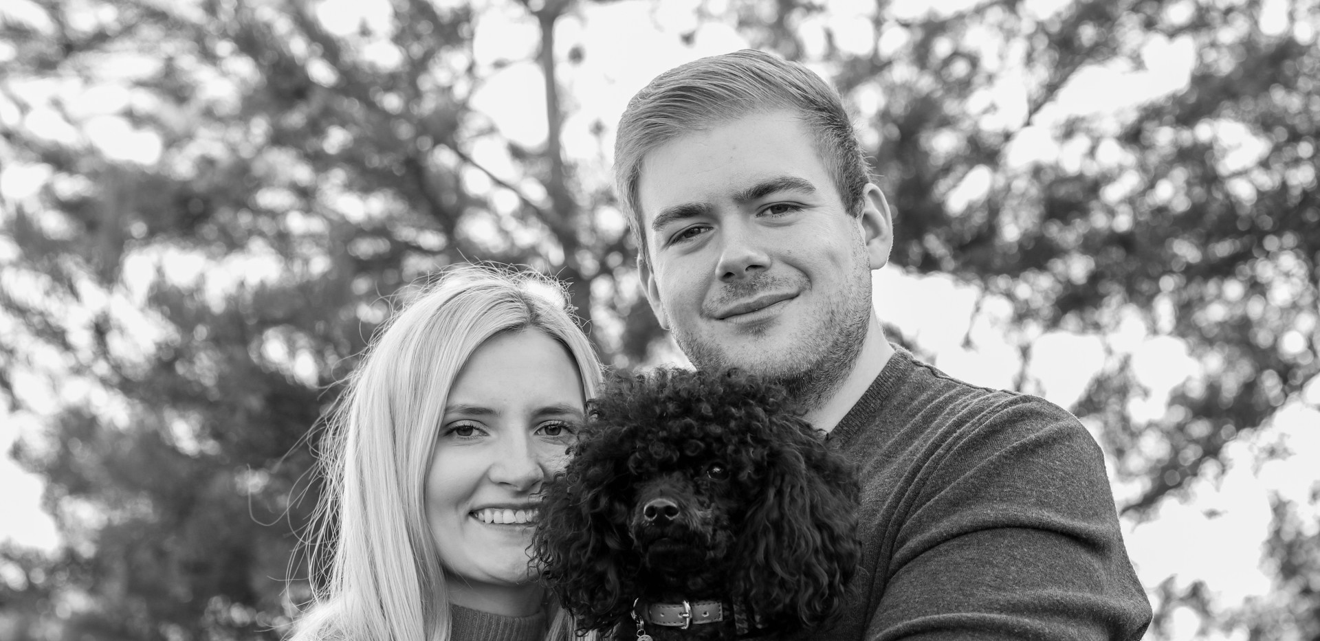 engagement photography puppy