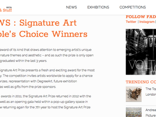Featured on 'FAD Magazine' - The Signature Art Prize