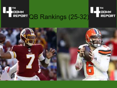 Ranking all 32 Starting NFL Quarterbacks (25-32)