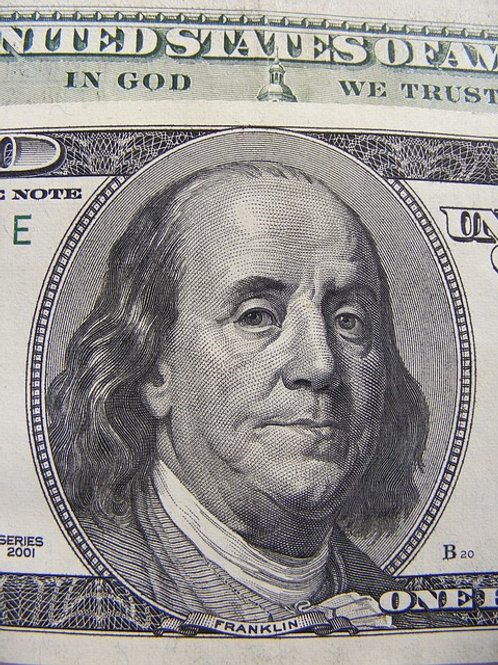 Sometimes I wonder what's more odd: Ben Franklin on the $100 bill or the fact they chose such an unflattering portrait of him