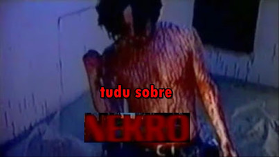 Guy covered in blood fucking corpse in Nekro 1998 short horror film