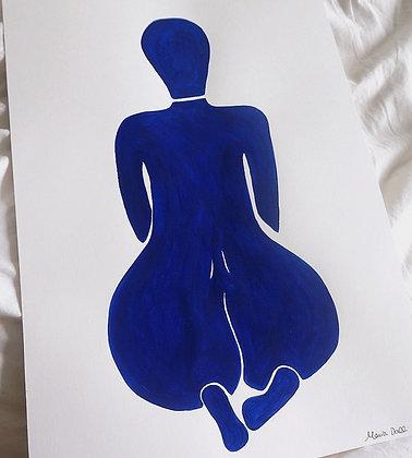 Ultramarine blue nude