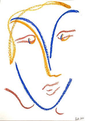 Pastel face 2