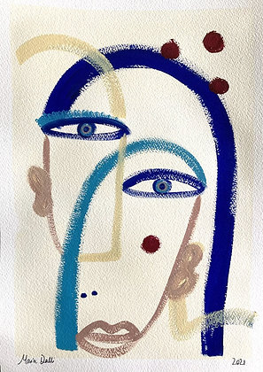 Layered faces 1