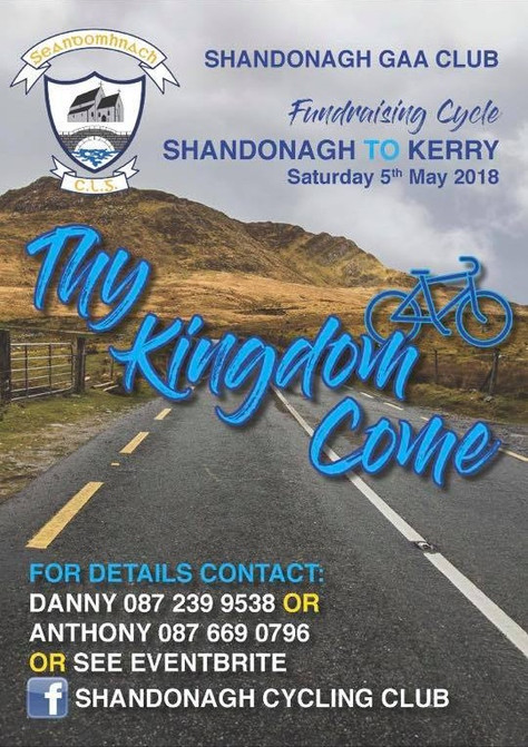 Thy Kingdom Come - upcoming cycle to Ballybunion in county Kerry on May bank holiday weekend!