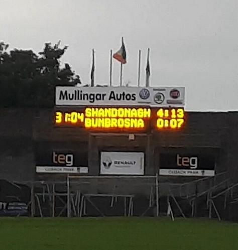 Shandonagh overcome Bunbrosna in IFC