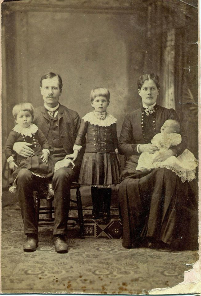 Andrew, Ulrika, and their first three children