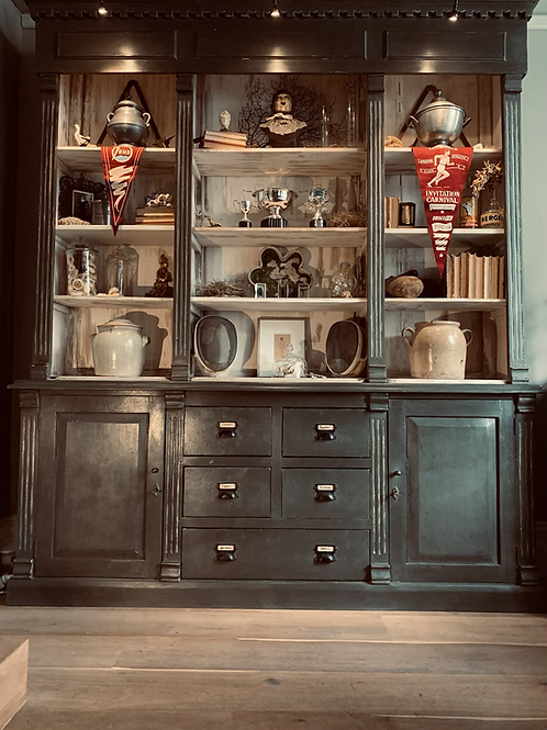 Antique French Pharmacy Cabinet