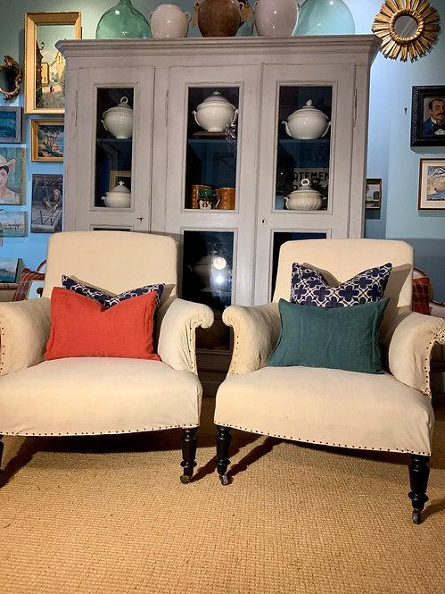 Calico Napoleon Lounge Chairs