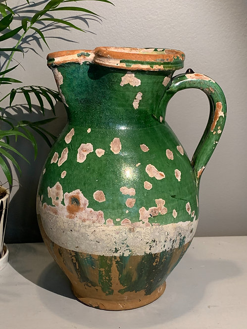 Water Pitcher with Green Glaze