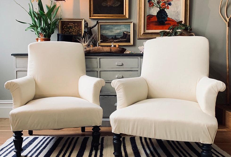Deep Napoleon Armchairs