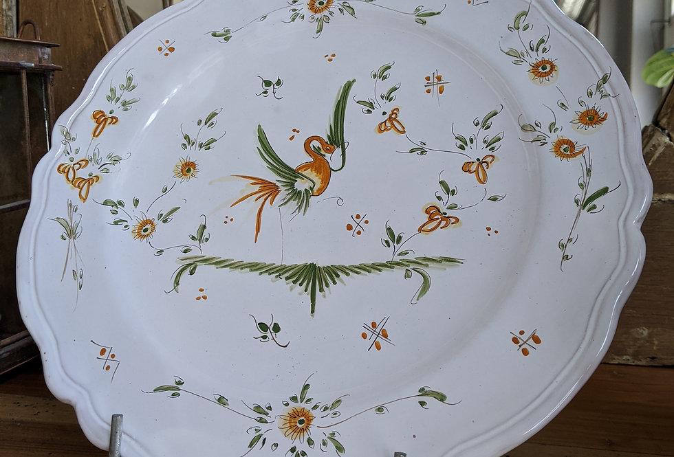 Lyre Bird Serving Plate