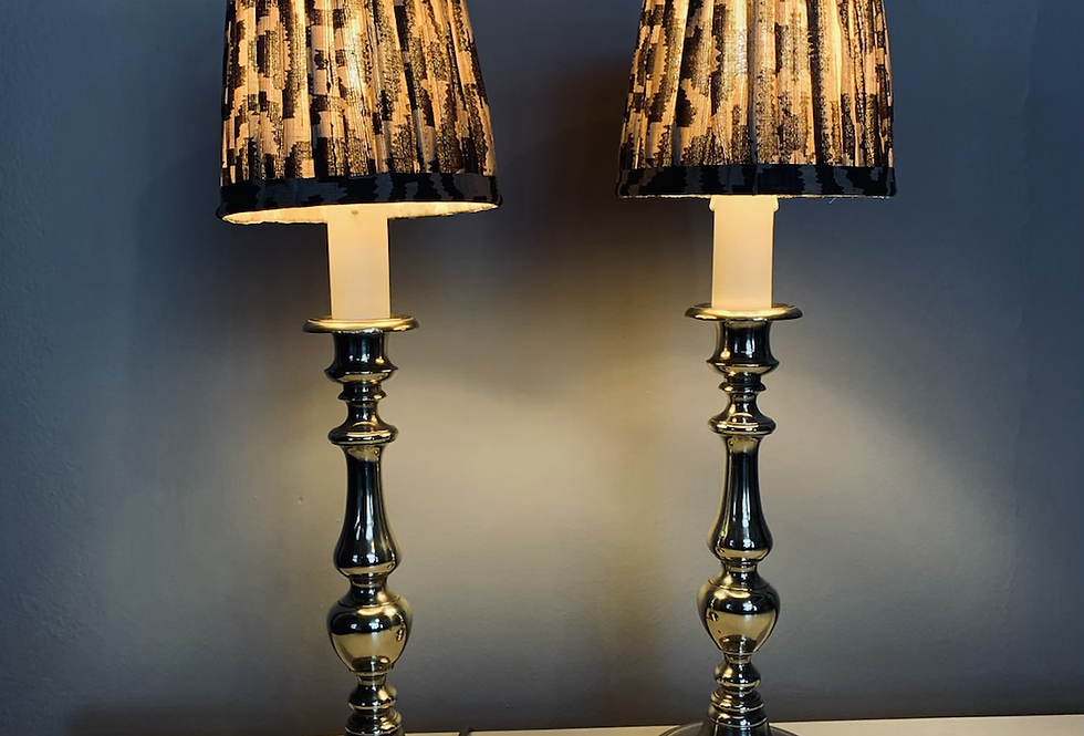 Pair electrified Brass candelabra