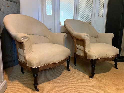 Reclined Napoleon Lounge Chairs