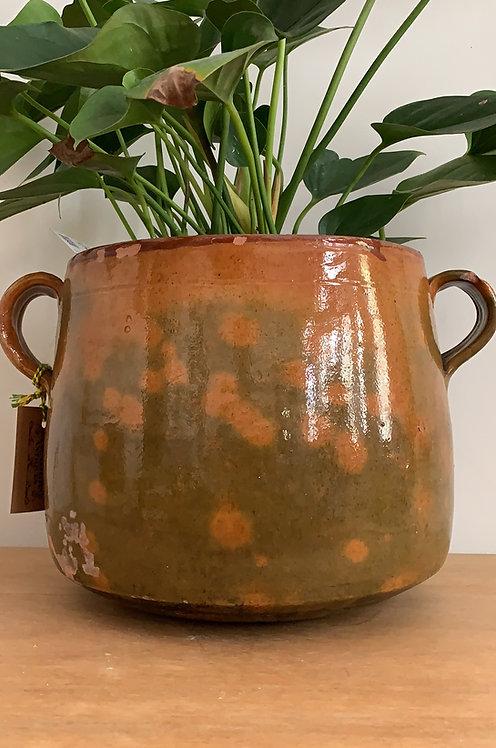 Glazed confit pot