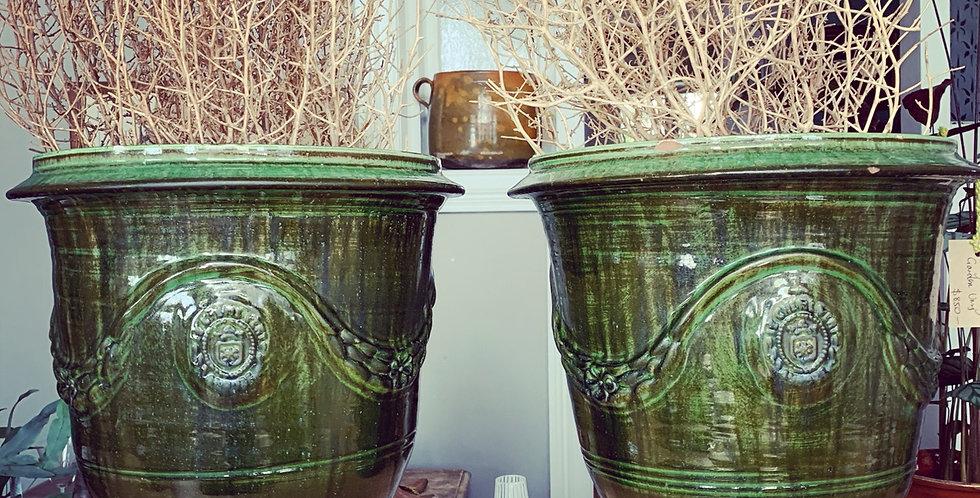 Green Anduze Garden Urns