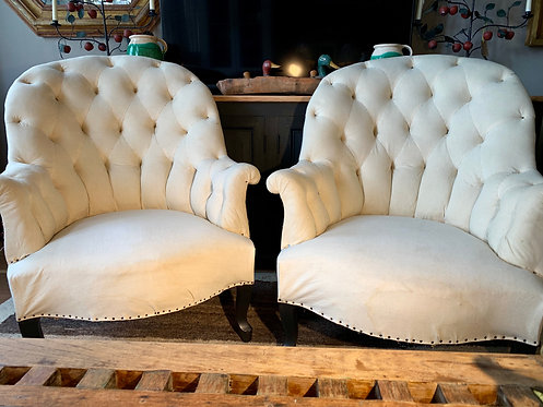Deconstructed Button Back Chairs