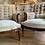 Thumbnail: Oak Framed Scroll Back Napoleon Armchairs