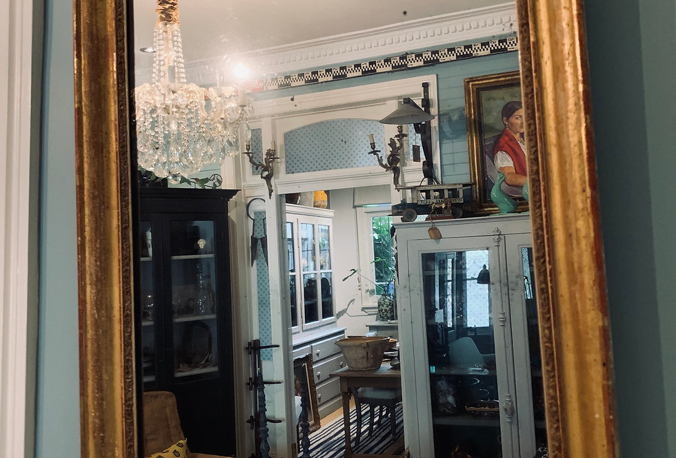 Square Gilded Mirror