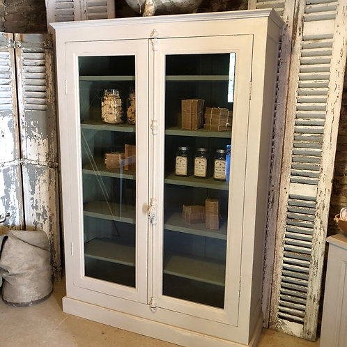 Antique double door French Display case with cremorne bolt