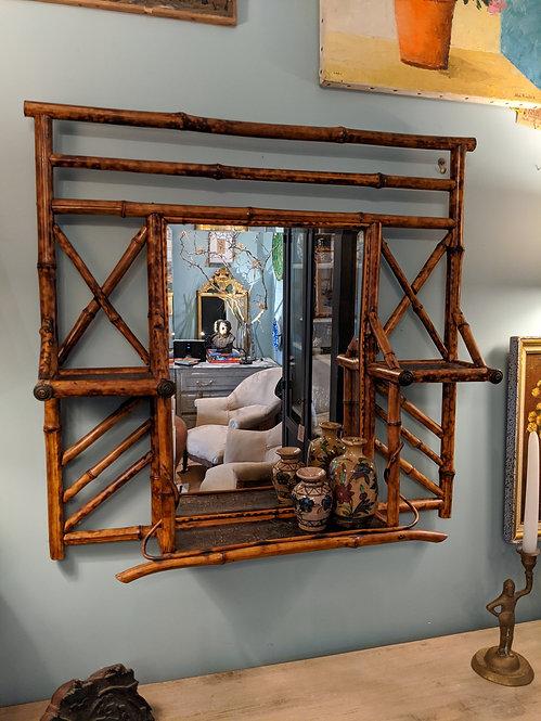 Antique Bamboo Shelf