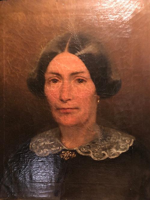 1850s Belgium Lady Portrait