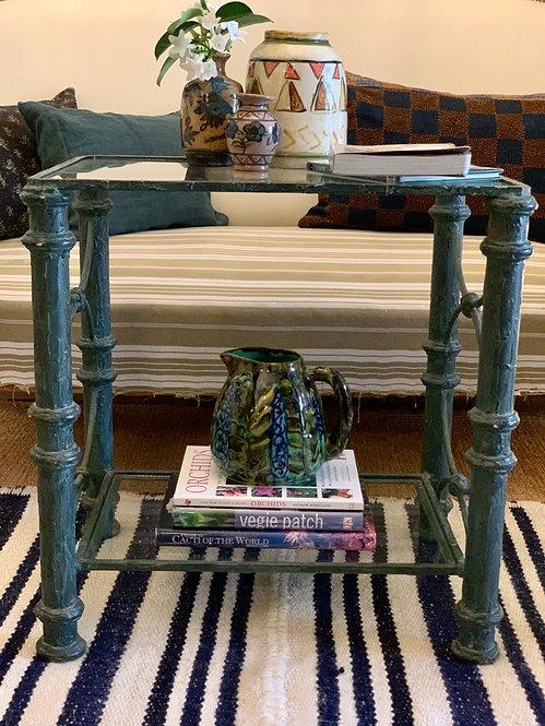Iron Faux Bois Side Table