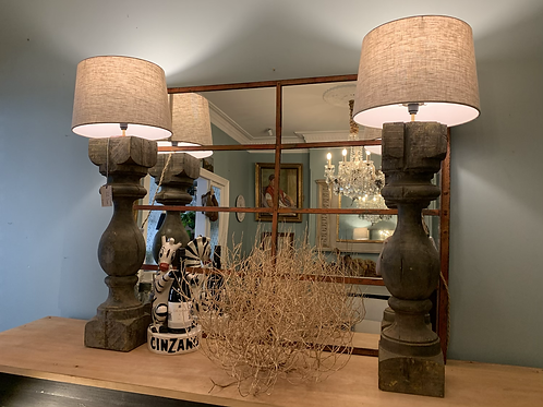 Oversized Antique Corbel Lamps