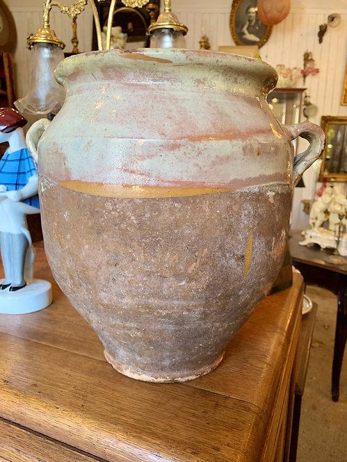 Large Cream Confit Pot
