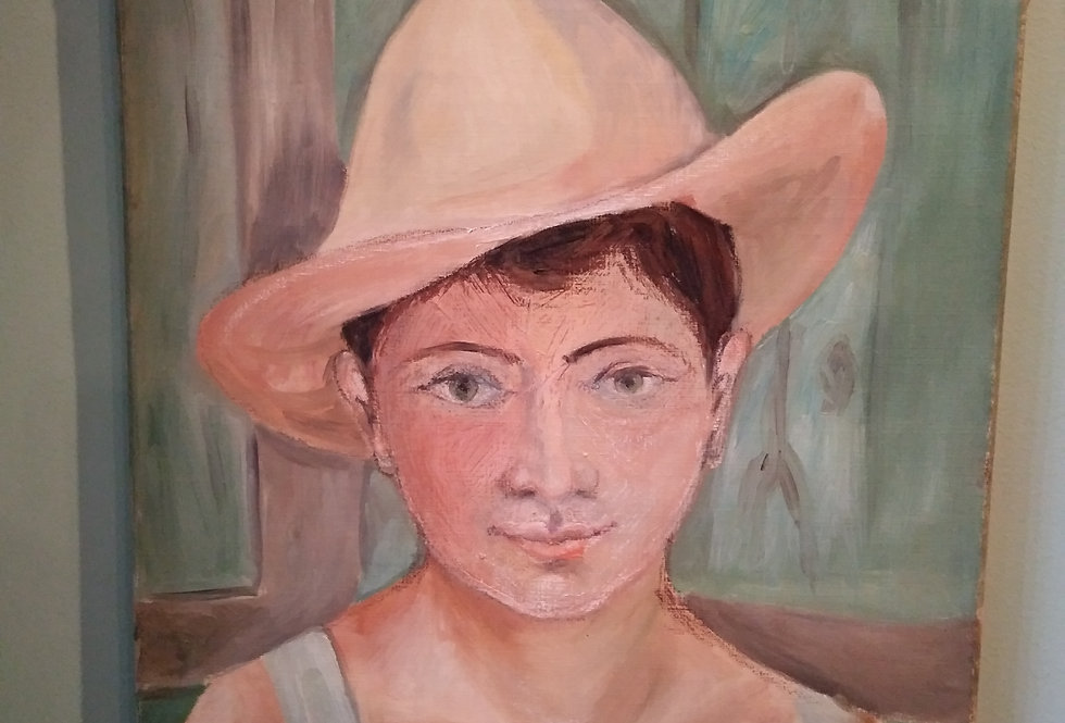 Provincial Farm Girl. Oil On Canvas.