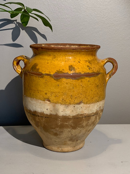 Yellow Glaze Confit Pot
