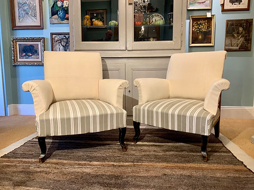 Deep Rollback Napoleon Armchairs