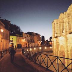 Dusk in Arles