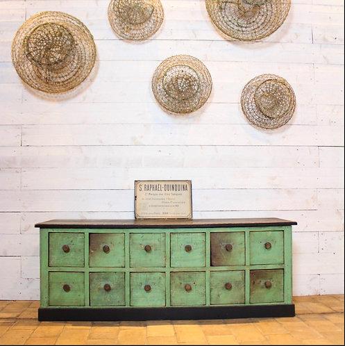 Industrial Green Low cabinet