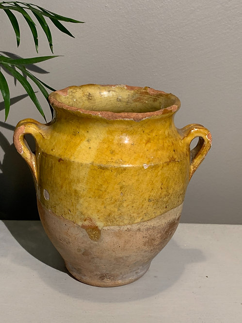 Small Yellow Confit Pot