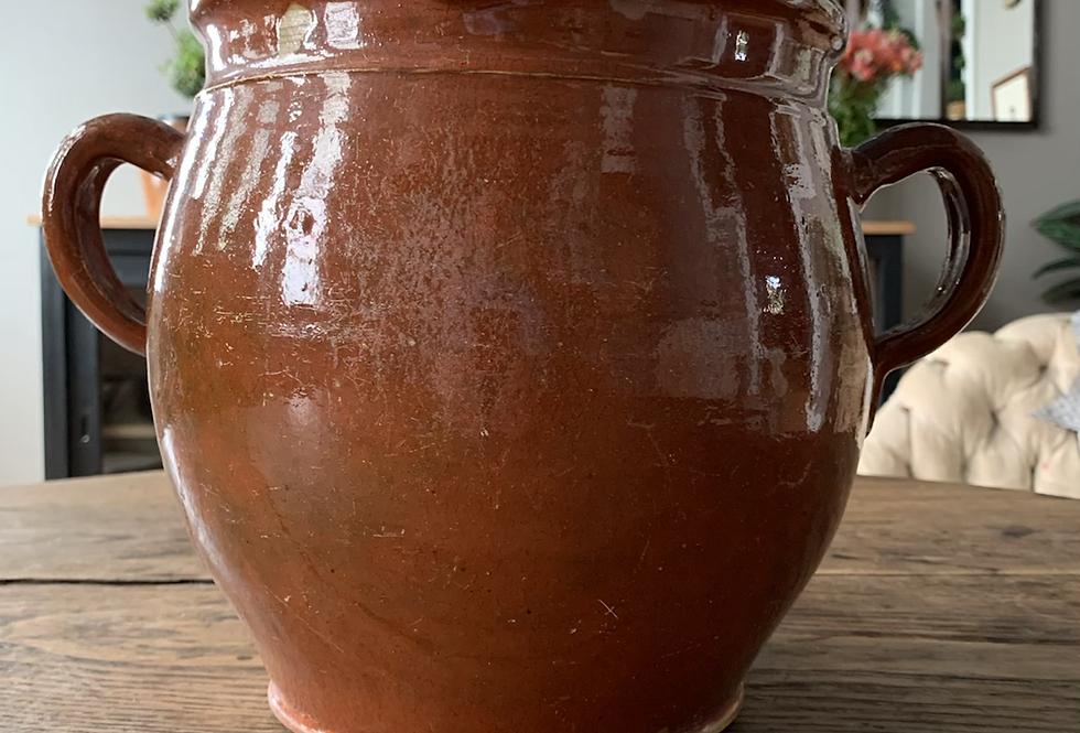 Antique Glazed cooking vessel