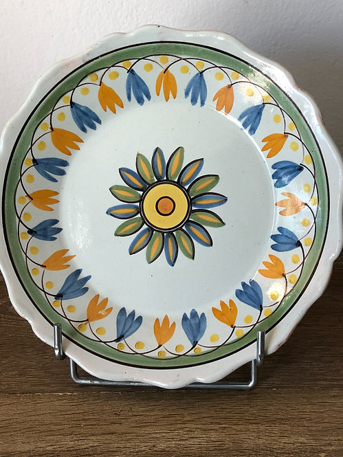 Floral Brittany plate