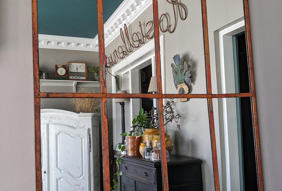 Glasshouse Mirror with Orange Patina