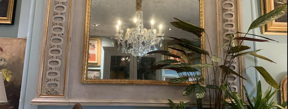 19th Century Italian Fretwork Mirror