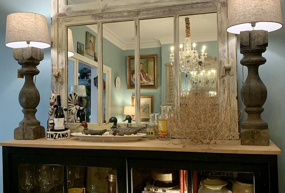 French Oak Pivot Mirror