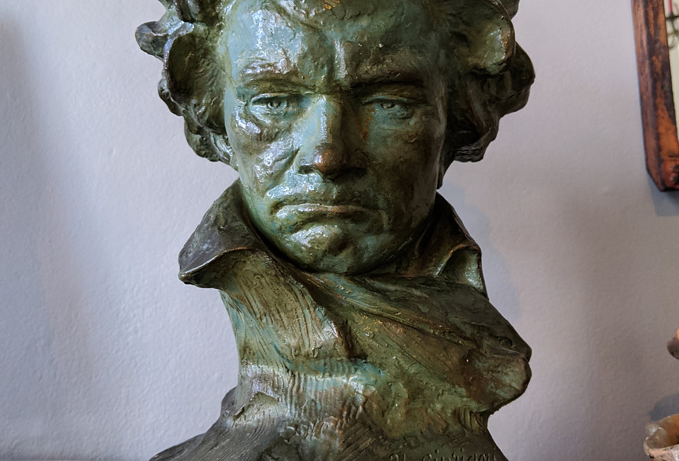 Terracotta Bust of Beethoven