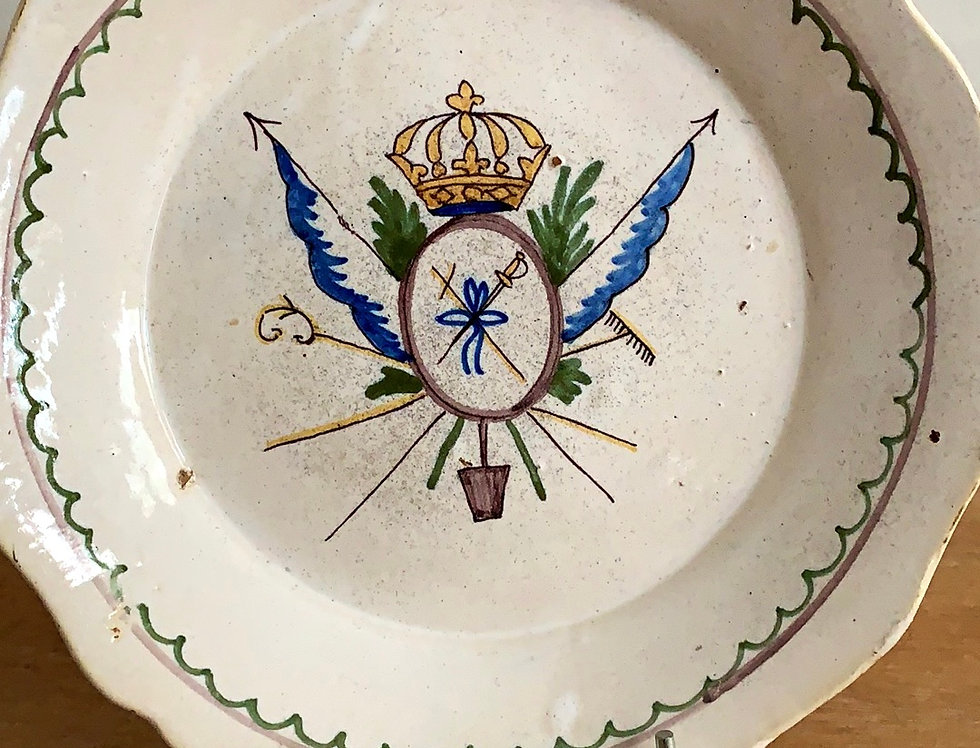 Hand Painted Crest Plate